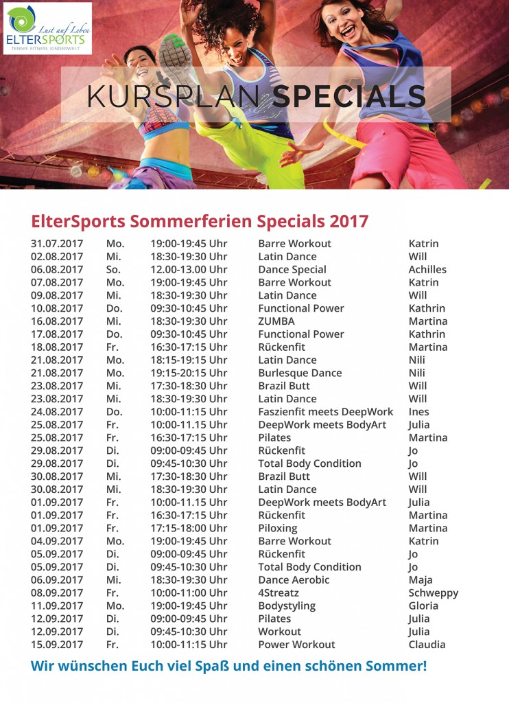 ElterSports Group Exercises Sommerferien Special 2017