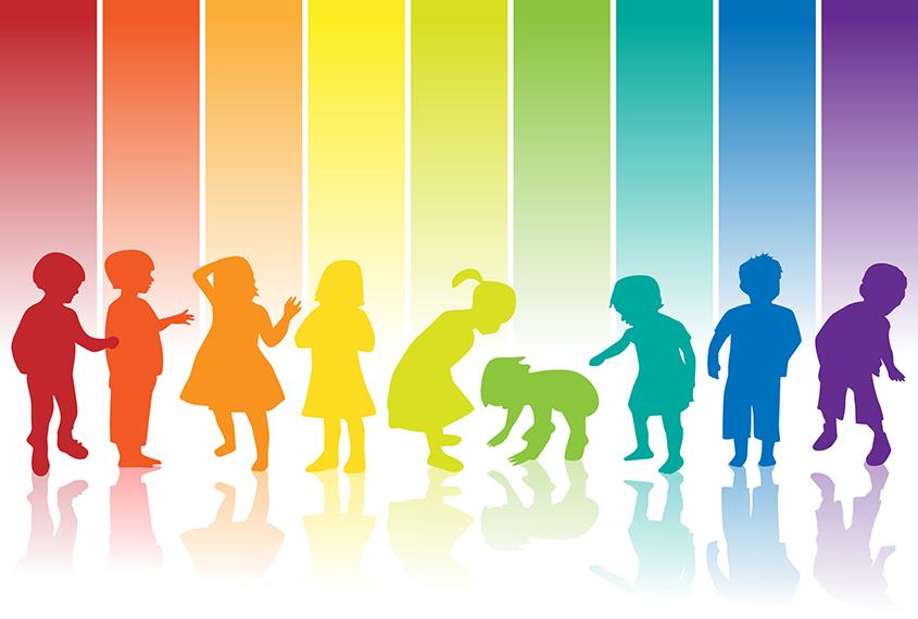 kinder silhouette regenbogen - ElterSports - die ...