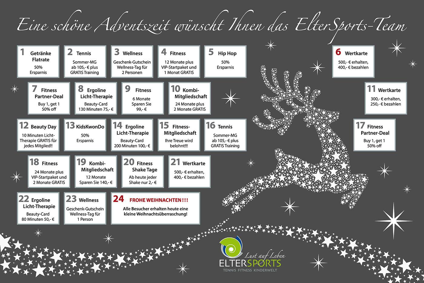 Fitness Weihnachtskalender.Eltersports Adventskalender Eltersports Die