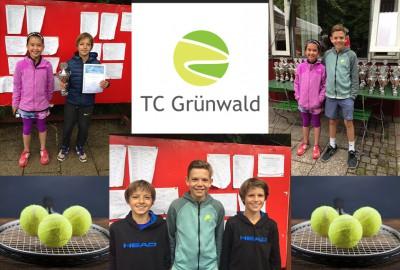 TC Gruenwald Bezirksmeisterschaften Collage