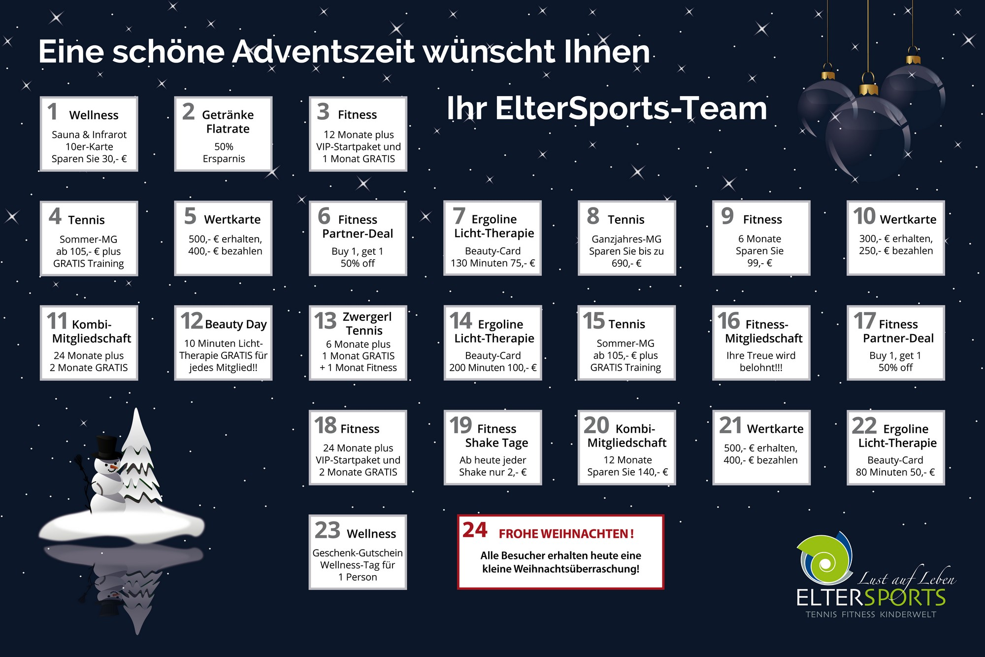 ElterSports Adventskalender 2017