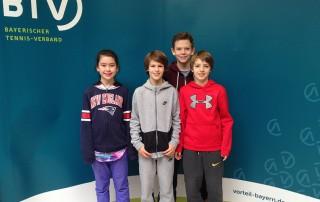 TC Grünwald e. V.  Laura Maser, Leo & Max Pade, Ferdinand Klösters_bearb