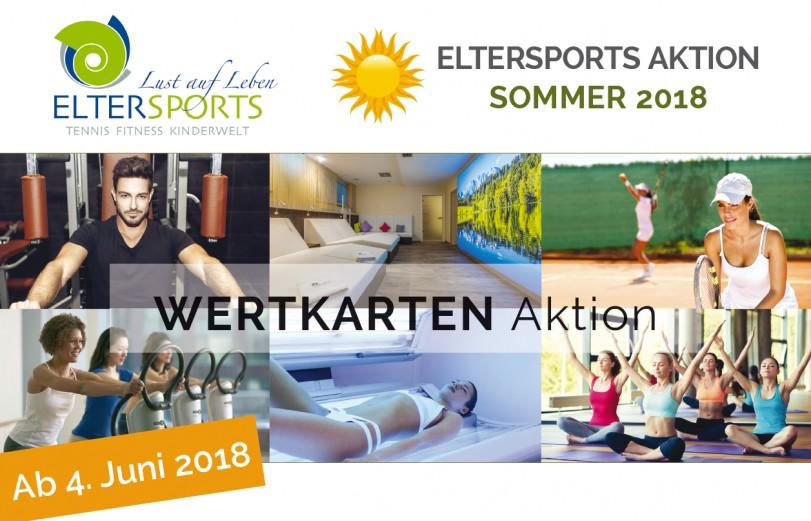 ElterSports Sommer Aktion - Laden Sie Ihre Wertkarte auf und sparen Sie bis zu 25%
