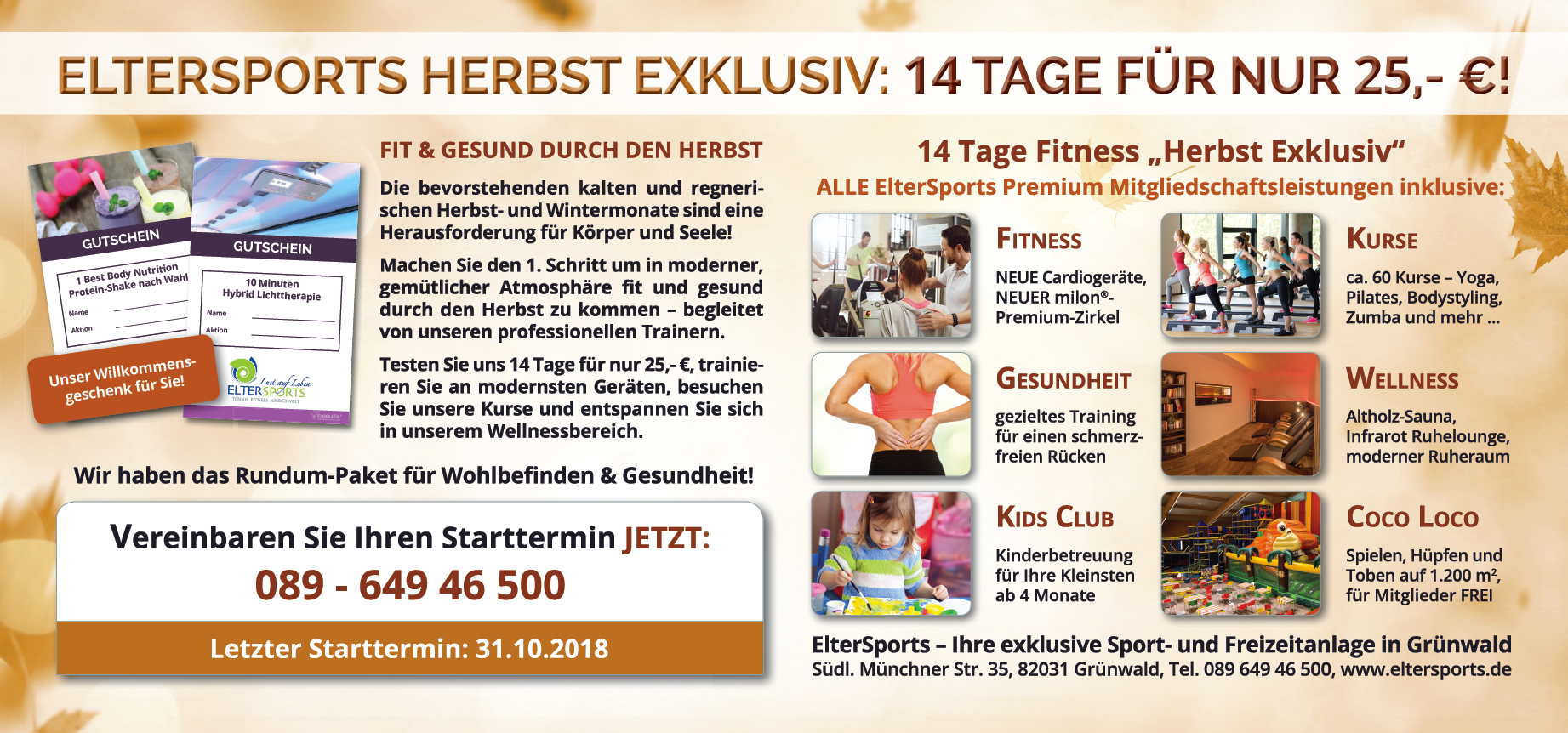 ElterSports Herbstaktion 2018-2