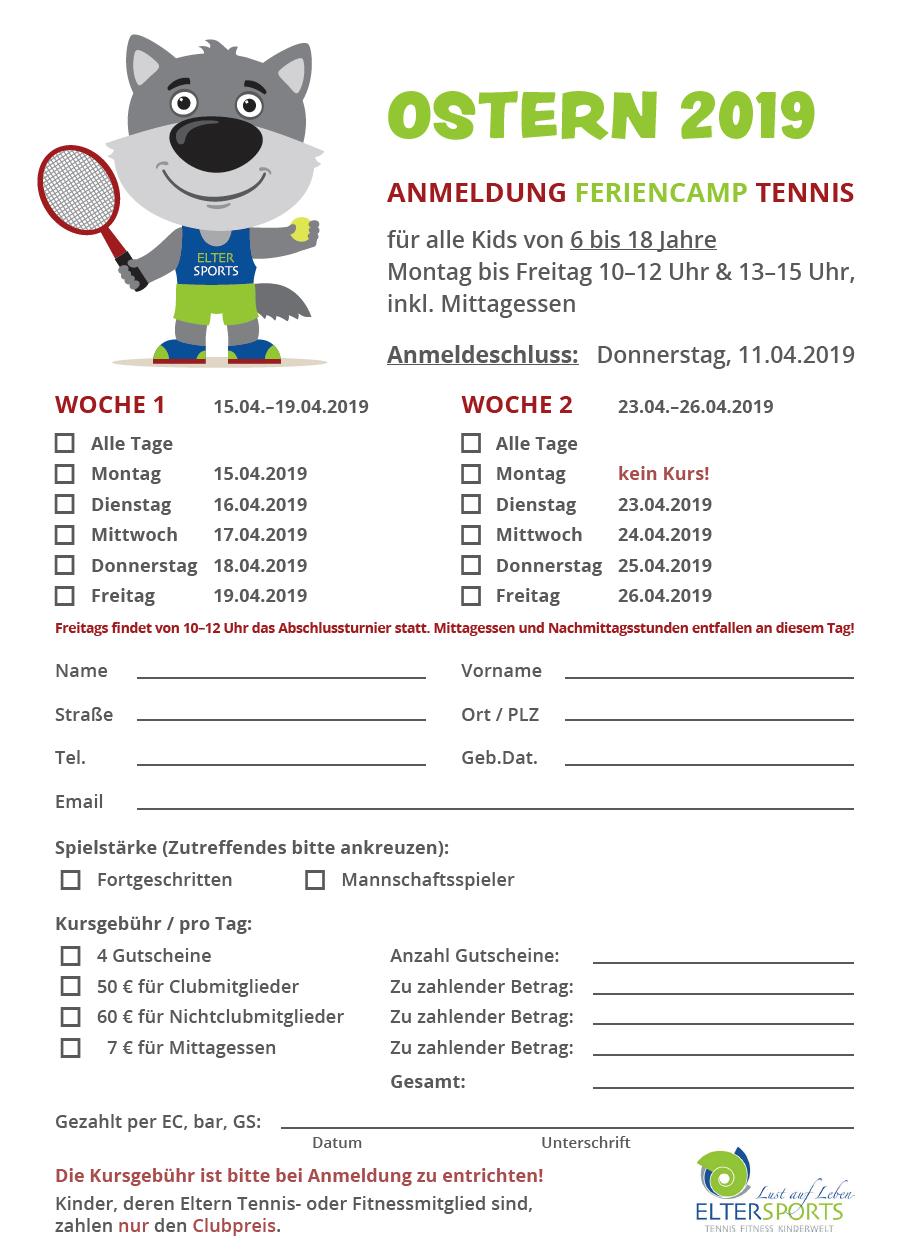 Anmeldeformular Feriencamp 04-2019