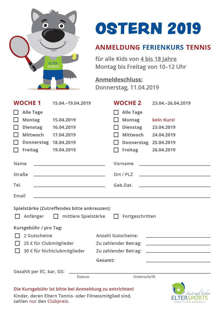 Anmeldeformular Ferienkurs 04-2019