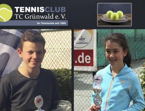 Erfolgreiches Tennis-Duo beim Pep-Cup