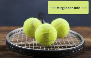Tennis Mitglieder Infos Schließung Coronavirus