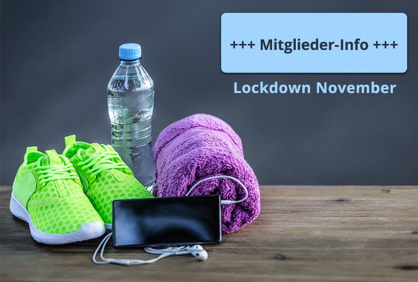 Anschreiben Fitness Mitglieder Corona Lockdown November 2020