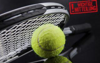 Corona 2. Lockdown Schließung Tennis Hallenplätze