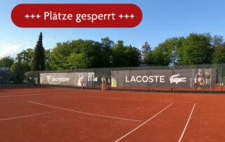 Tennis Außenplätze gesperrt